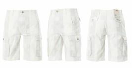 NEW LEVI'S MEN'S PREMIUM COTTON RELAXED CARGO SHORTS WHITE GRAY PLAID 124630294 image 2