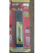 OLFA LBB-10B 18mm CARBON TOOL STEEL Sharp Black Heavy-Duty Snap-Off Blad... - $11.70