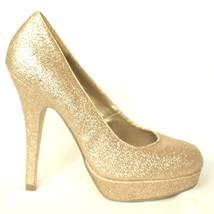 NEW Madden Girl Champagne Glitter Platform Pumps TORIIE  Women's Size 7.... - $19.99
