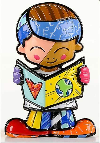 Romero Britto Mini School Boy Figurine  #331850