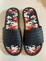 Men tunnel slides sandals blue camo camouflage insole pick size 11-13 image 2