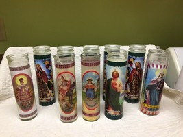 Lot Of 10 Assorted Saint Candles - $31.68