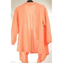Oh My Gauge jacket cover open OS orange sherbet long sleeve ruffle front hi lo image 10