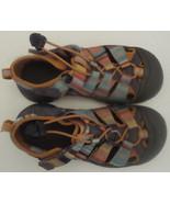KEEN Pastel Striped Waterproof Sandals Girls Sz 1 PullString Hook Loop C... - $23.14