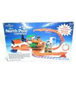 Kurt S Adler North Pole Express Train Set Flip Action Track Sounds NEW - $49.88