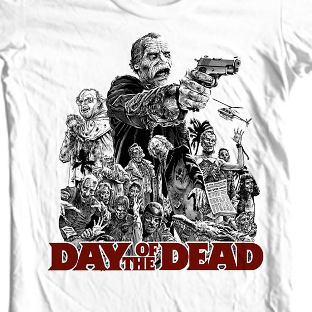 Day of the dead retro horror sci fi for sale white graphic tshirt online