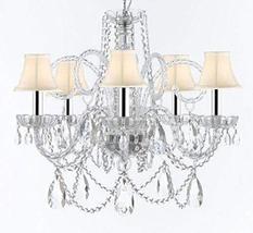 Swarovski Crystal Trimmed Murano Venetian Style Chandelier Crystal Light... - €286,98 EUR