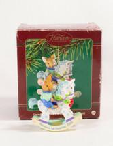 Carlton Cards Heirloom Collection Christmas Ornaments Grandsons 1st Chri... - $5.93