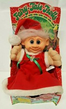 Mrs Santa Claus Fairy Tale Troll Doll 1992 Music Light Vintage 90s Chris... - $197.99