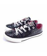 Converse Chuck Taylor All Star Girls 2 Galaxy Glimmer Ox Sneakers Black ... - $20.34