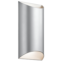 Kichler 49279PLLED Wesly Outdoor Wall Sconces 7in Platinum ALUMINUM - $359.99