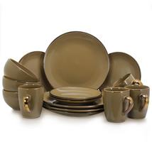 Elama Bristol Grand 16-Piece Dinnerware Set, Warm Taupe - $60.85