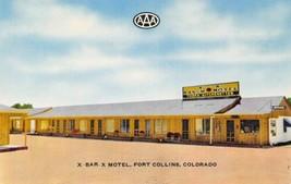 X Bar X Motel South College US 287 Fort Collins Colorado chrome postcard - $6.44