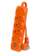 CyberPower 3 ft. 3-Outlet 2-USB Surge Protector, Orange - $18.95