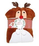 Blue Star Women's Christmas Edition Plush Hooded Pajamas One Piece Adjus... - $25.20