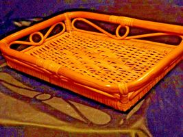 Serving Tray Wicker Basket AA-191707 Vintage Collectible image 6