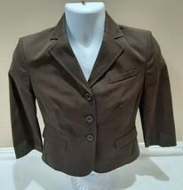 Ann Taylor Loft Womens Size 4 Petite Brown Blazer MSRP $89 NWT  - $25.49