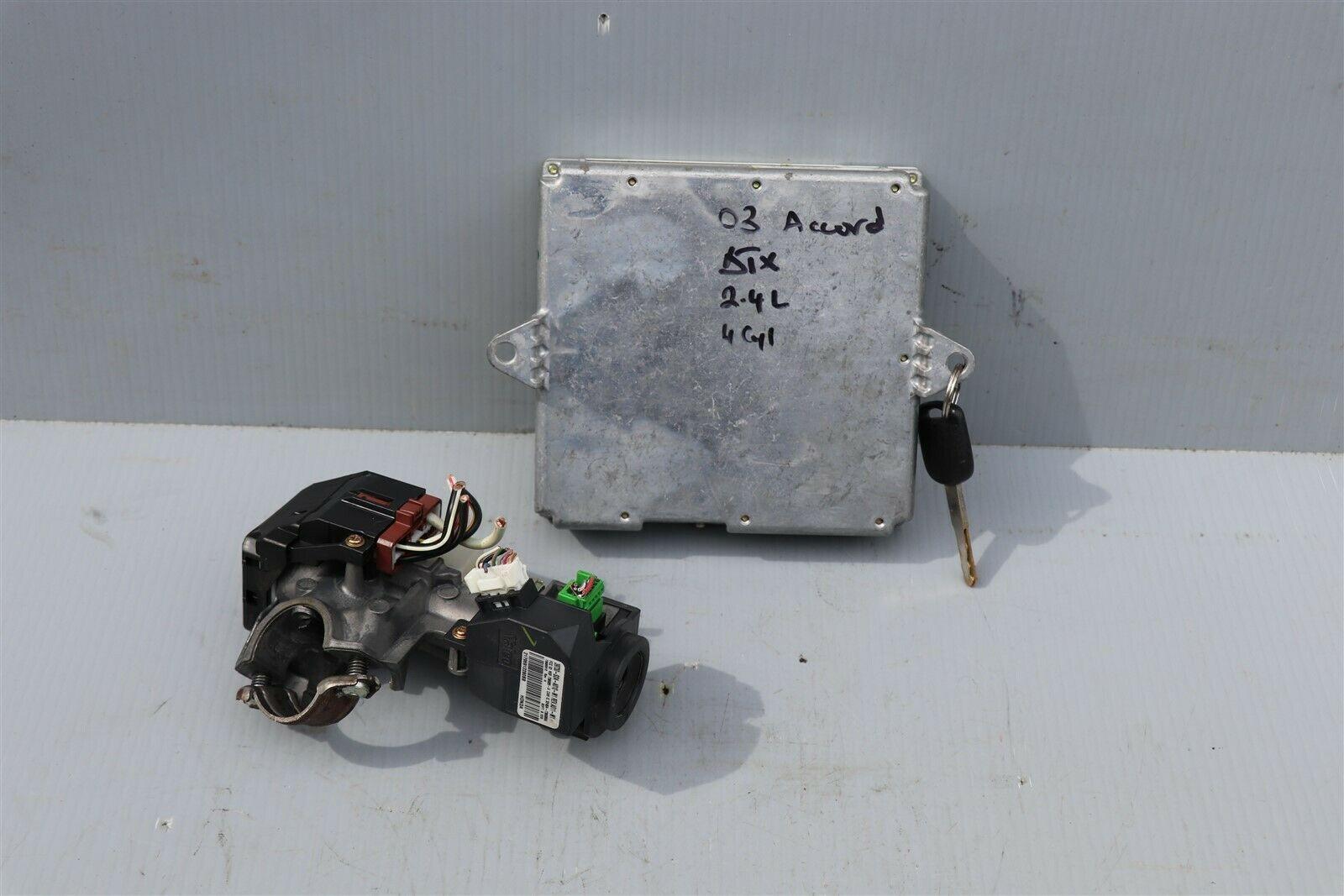 03 Accord 2.4L ATX ECU ECM Engine Control Module w/ Immo & 1 Key 37820-RAA-A54