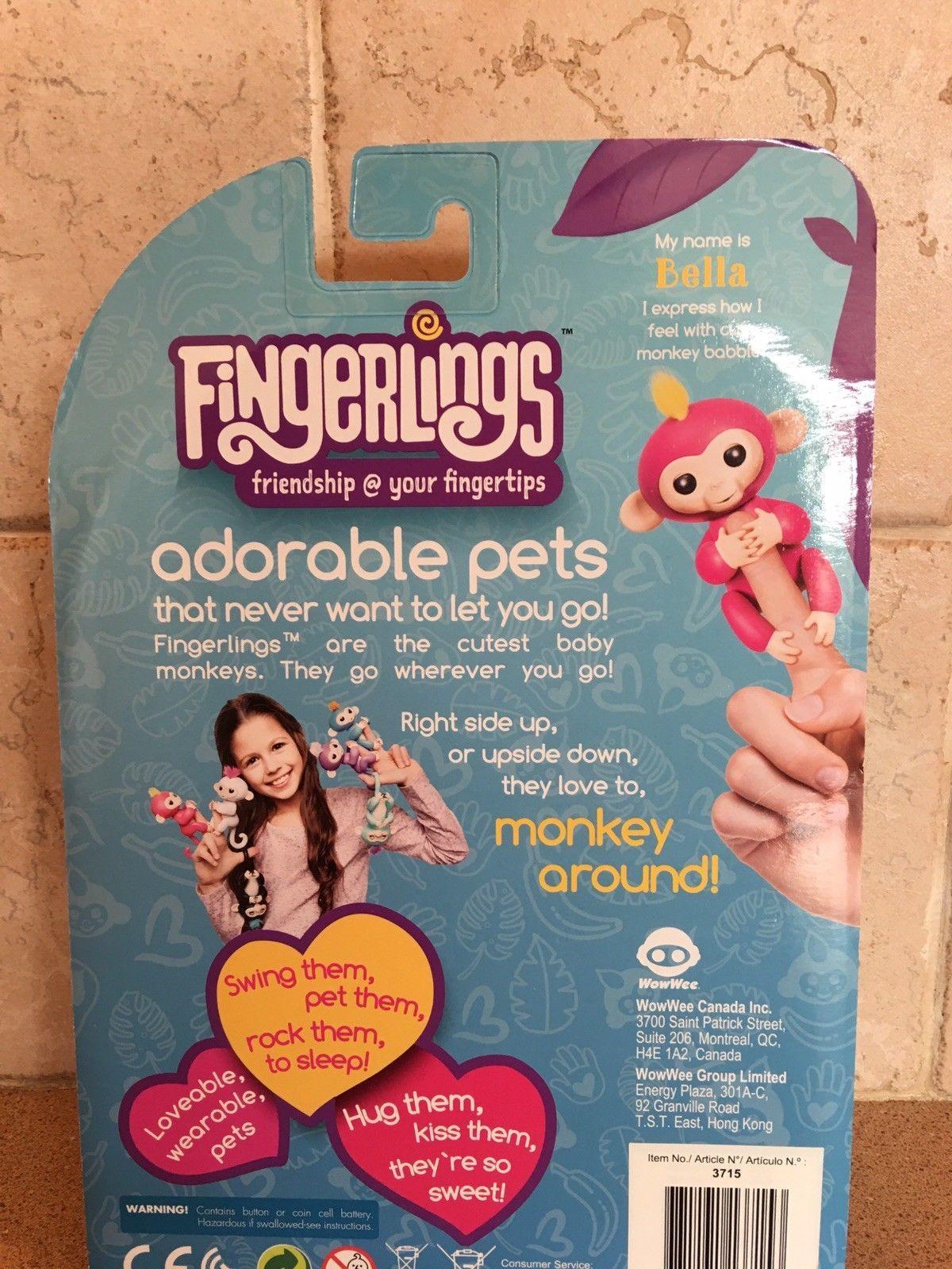 Fingerlings Interactive Baby Monkey Bella and  Bonus stand New 2017 Purple