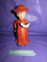 "Vintage Christmas Figurine With Hat & Pickle & Book 6.5"" tall - $14.84"