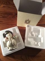 "LENOX ""Special Delivery"" Snowman porcelain gold... - $16.92"