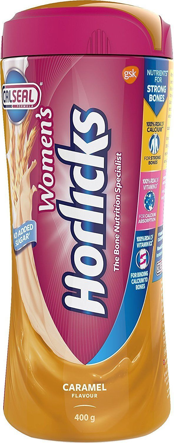 Women's Horlicks 400Gm Nutrition Drink Choose from 2 Flavors Chocolate / Caramel image 9