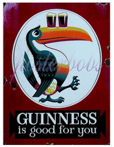 """""""Guinness is Good For You"""" Vintage 13 x 10 in Giclee CANVAS Advert Print - $19.95"""