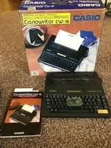 Casiowriter CW-16 Electric Typewriter+Spell Check & Original Box Pre-Owned - $24.18