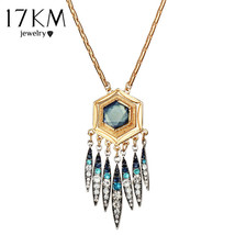 17KM® Vintage Crystal Tassel Pendant Necklace For Women Punk Bar Boho St... - $4.49