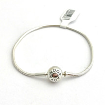 "Pandora Essence Collection Sterling Silver Bracelet, 596000-19, 7.5"" New - £42.71 GBP"