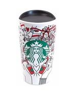 Starbucks Holiday 2017 Travel Tumbler Mug Coffee Cup Red Dot Mermaid Logo - $25.75