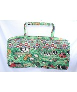 "Large Quilted Shoulder Bag Farm Print 27"" Long x 14"" Tall x 3"" Wide Purse  - $45.07"