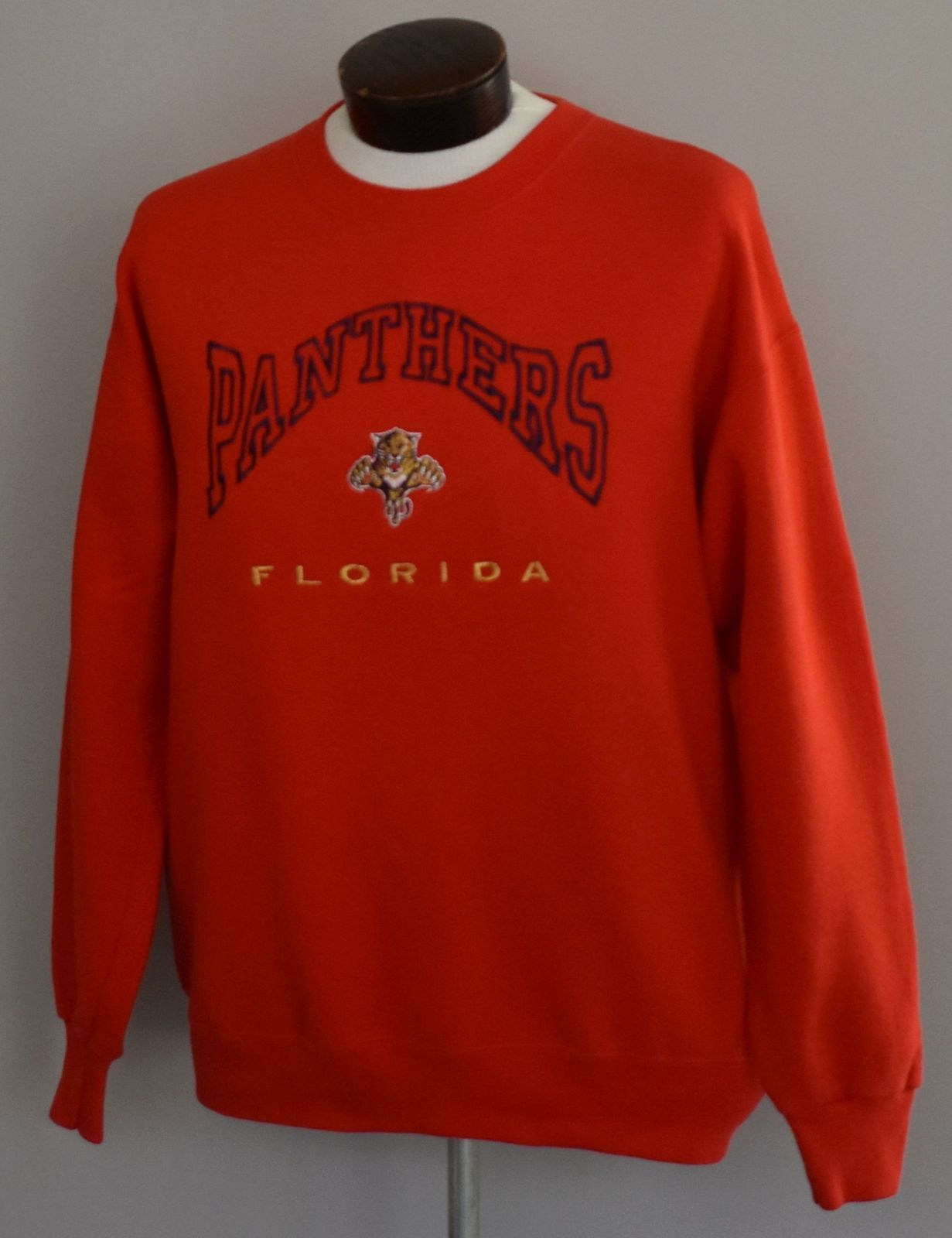 90s Florida Panthers Embroidered Crewneck Sweatshirt Size Hipster Large to XL image 3