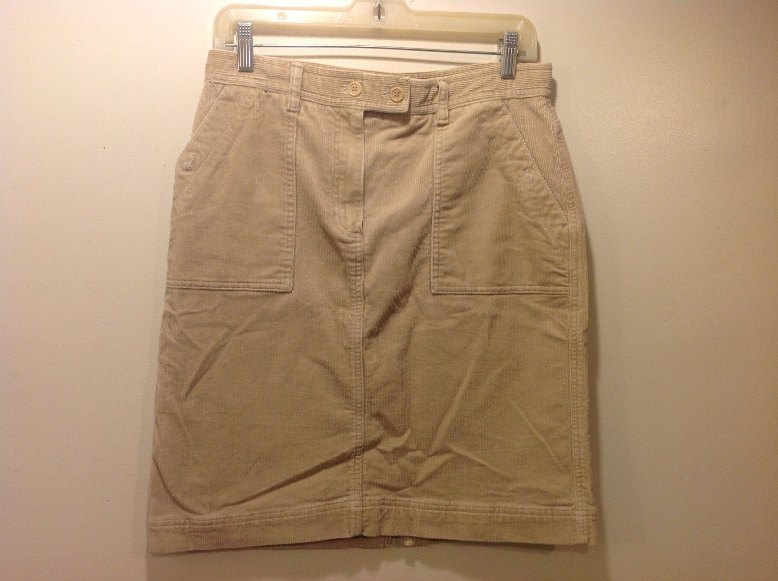 Jones New York Sport Tan Colored Corduroy Skirt Sz 6