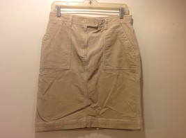 Jones New York Sport Tan Colored Corduroy Skirt Sz 6 - $29.70
