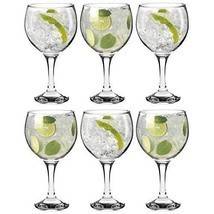 Cocktail Glasses 6 Pcs Set Balloon Dining Bar Restaurants Glassware Gin ... - $33.01