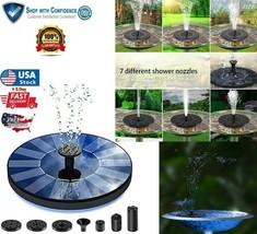 Solar Power Bird Bath Fountain Pump Upgrade 1.5W Solar Fountain with 4 N... - $10.98