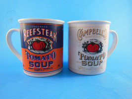 Campbell's Soup BEEFSTEAK TOMATO SOUP Mugs 125th anniversary editions - $10.88