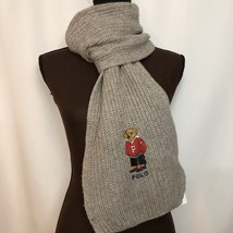 NEW POLO RALPH LAUREN Polo Bear Scarf, University Bear, Gray, $65 - £39.75 GBP
