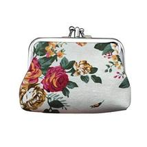 Panda Superstore Fashion Canvas Retro White Style Change Purse Flower Pattern Co - $11.99
