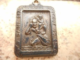 Pre-Owned,Vintage,Saint Christopher, Sterling,Square,Catholic /Religious... - $45.00