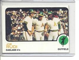 (b-31) 1973 Topps #360: Joe Rudi - Factory Error - Off-Set Cut - $6.50