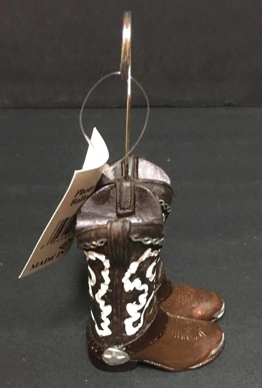 Western Cowboy Boots Card/Photo/Balloon Holder 5 CT Free Shipping