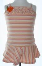GYMBOREE Apricot Cream Striped Summer Dress Toddler Size 3 EUC Ruffles F... - $8.41