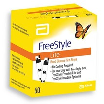 FreeStyle Lite Blood Glucose Test Strips x 50 - $33.83