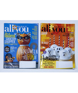 ALL YOU MAGAZINE LOT OF 2 HALLOWEEN SEPTEMBER  & OCTOBER 2015 ISSUE 9 & 10 - $9.89