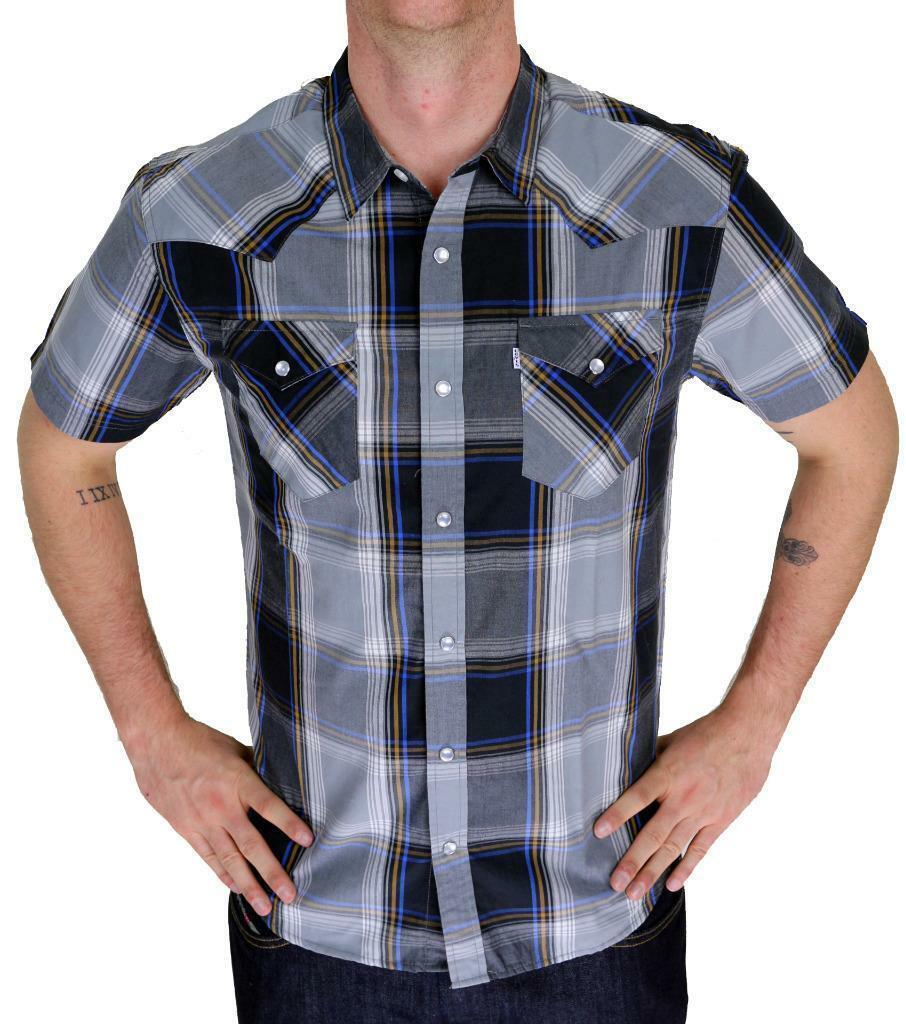 Levi's Men's Classic Button Up Plaid Geometric Shirt 3LYSW6062-CVR