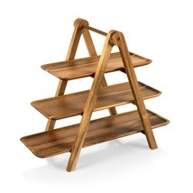 Serving Ladder Acacia 3-Tiered Serving Station Set - £83.23 GBP