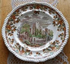 Antique Porcelain Plate English W T Copeland & Son Acorn Castle Dish Pla... - $125.00