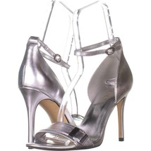 Nine West Matteo Ankle Strap Dress Sandals 463, Silver Metallic, 8.5 US - £18.46 GBP